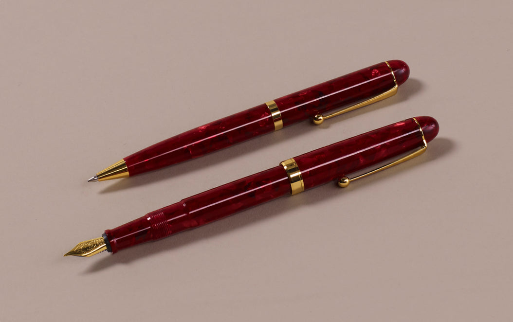 Ohnishi Seisakusho Red Marble Acetate 0.5mm Mechanical Pencil