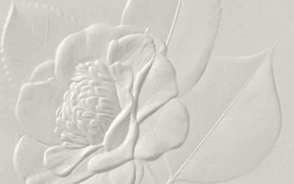 Blind Embossed Camellia No. 2 Greeting Card