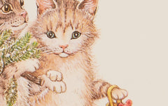 Engraved Christmas Cats Card, No 1
