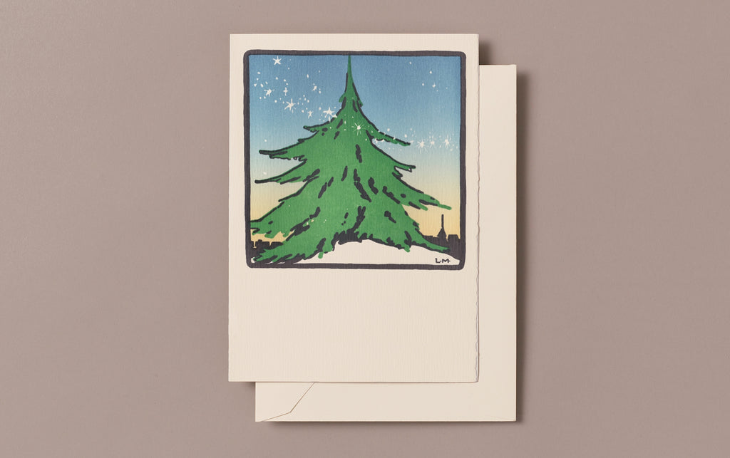 Letterpress Joyful Tree Christmas Card