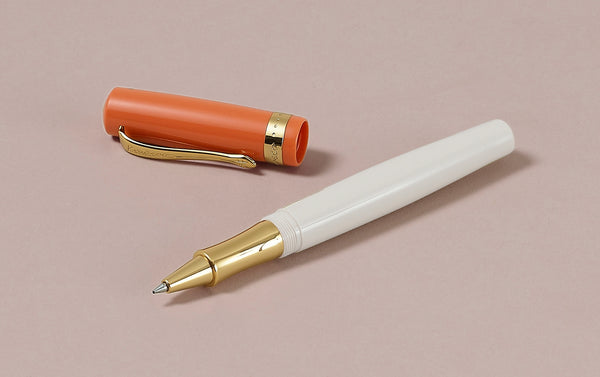 Peach and Ivory Kaweco Student 70s Retro Rollerball Pen