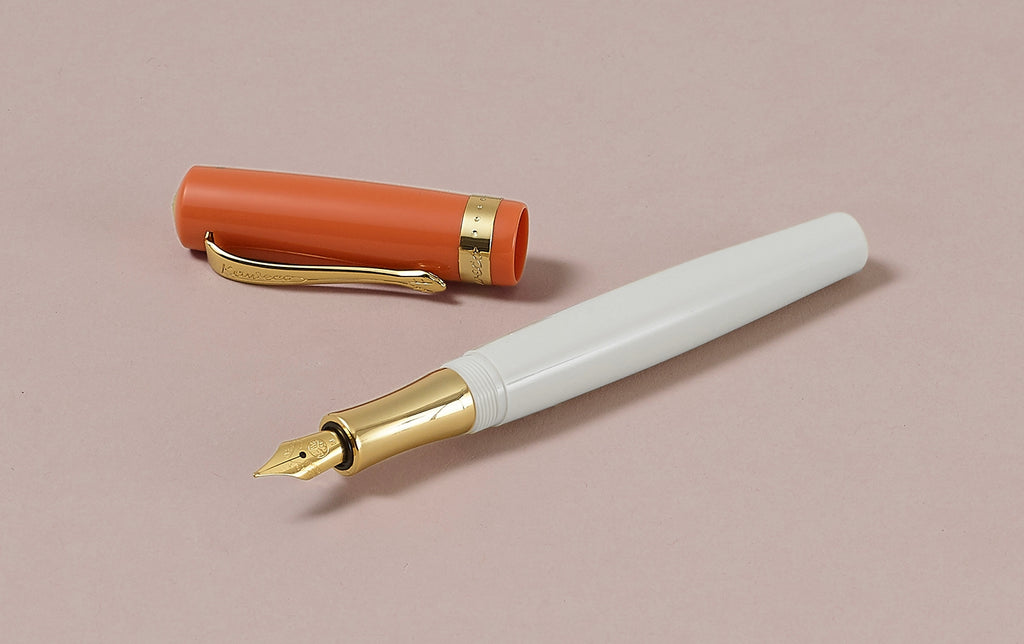 Peach and Ivory Kaweco Student 70s Retro Fountain Pen