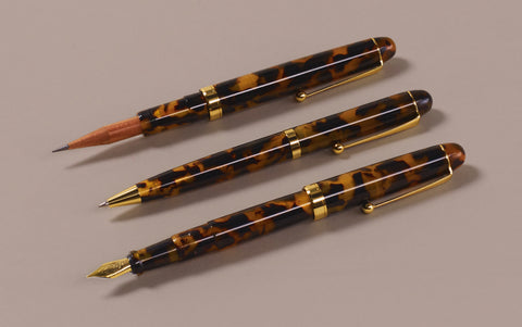 Ohnishi Seisakusho Tortoise Shell Celluloid 0.5mm Mechanical Pencil
