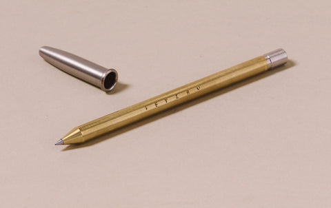 Brass Tetzbo Smooth Ballpoint Pen - Long