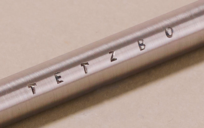 Brass and Nickel Silver Tetzbo Smooth Ballpoint Pen - Long