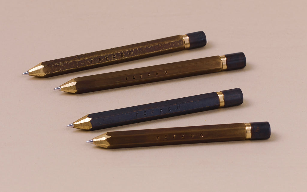 Brass Tetzbo Ballpoint Pen - Hand Sharpened Finish