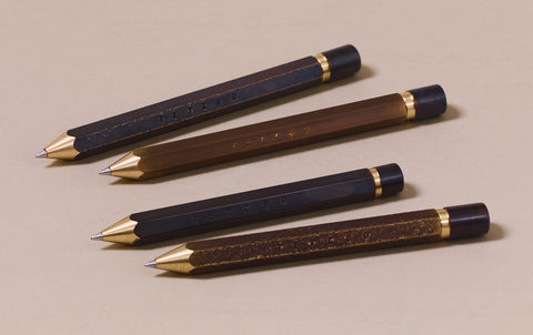Brass Tetzbo Ballpoint Pen - Smooth Sharpened Finish