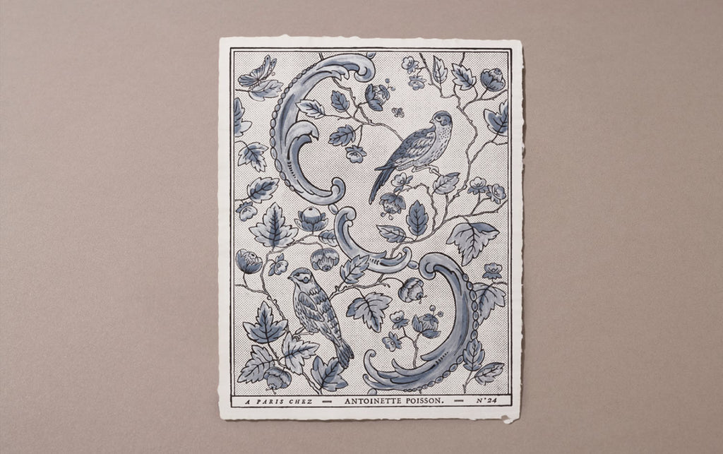 Antoinette Poisson Papier Dominoté No 24, Blue