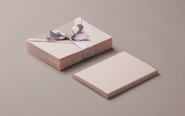 25 Cards & Envelopes - Letter Writing Set Pink/Grey