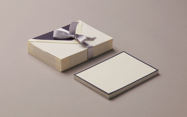 25 Cards & Envelopes - Letter Writing Set Cream/Blue