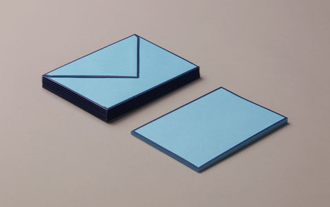 10 Cards & Envelopes - Letter Writing Set Turquoise/Navy