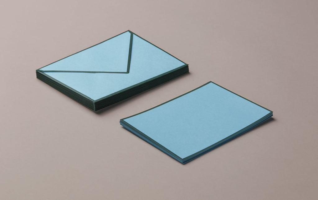 10 Cards & Envelopes - Letter Writing Set Turquoise/Green