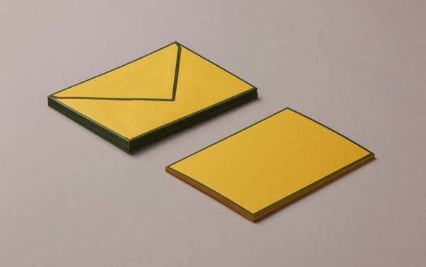 10 Cards & Envelopes - Letter Writing Set Yellow/Green