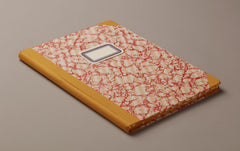 "A4 Hardback ""Composition Ledger"" Marbled Notebook, Mustard"