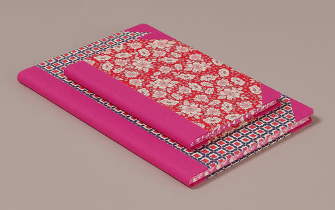 "Hardback ""Composition Ledger"" Notebook, Hot Pink Spine"