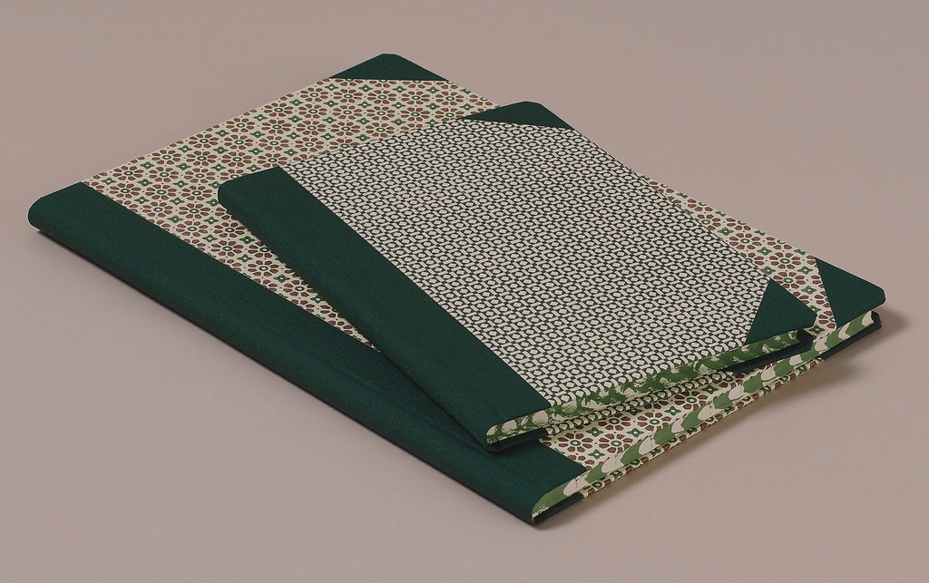 "Hardback ""Composition Ledger"" Notebook, Green Spine"