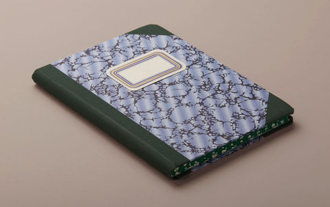 "A5 Hardback ""Composition Ledger"" Marbled Notebook, Green"