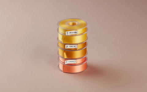 Premium Quality Swiss Ribbon, 25m roll - Yellows