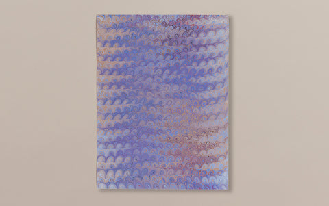 Hand marbled Paper Sheet, Comb No.4