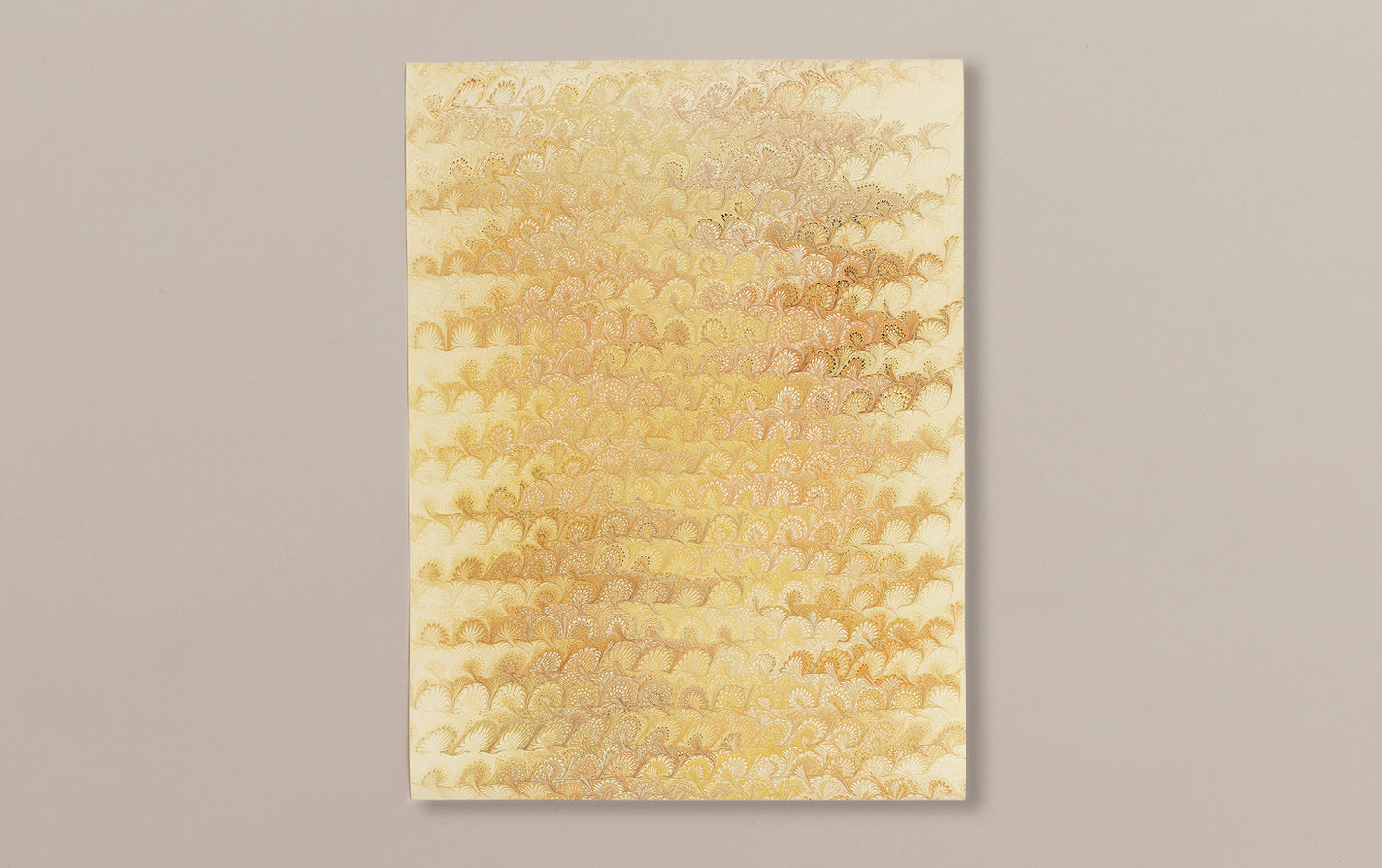 Hand Marbled Paper Sheet, Comb No.3