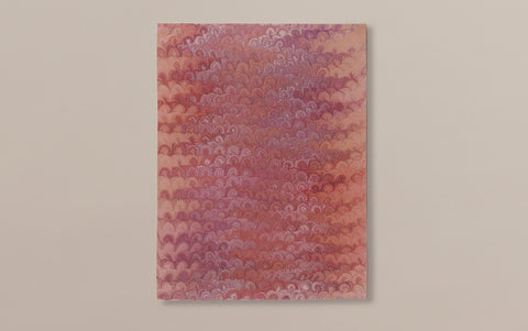 Hand marbled Paper Sheet, Comb No.6