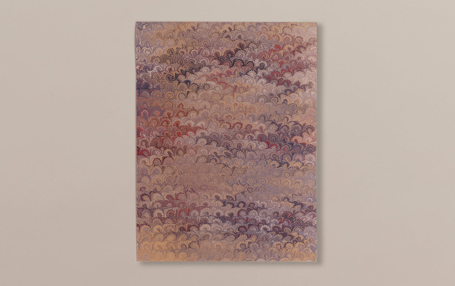 Hand Marbled Paper Sheet, Comb No.5