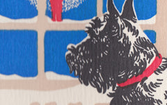 Letterpress Doggie In The Window Christmas Card