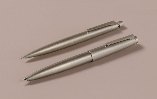 Matte brushed steel Bauhaus Lamy 2000 0.7mm Mechanical Pencil