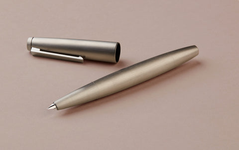 Matte brushed Steel Bauhaus Lamy 2000 Fountain Pen