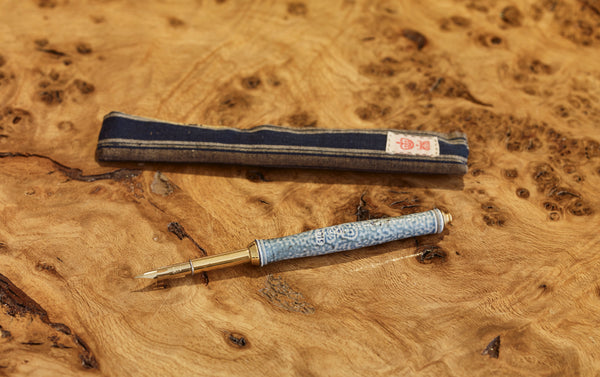 Steve Harrison Ceramic Dip Pen, No.1 Blue Stoneware