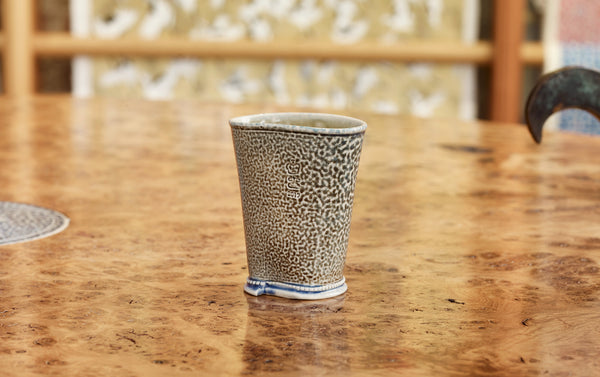 Steve Harrison Ceramic Desk Cup, No.89 Blue Brown Stoneware