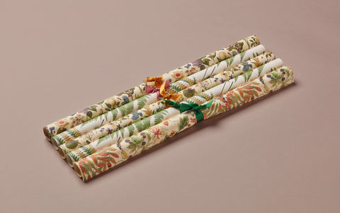 Assorted Garden Print Wrapping Papers