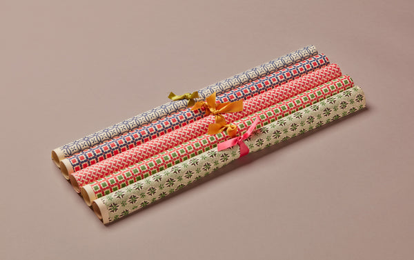 Assorted Geometric Pattern Wrapping Papers