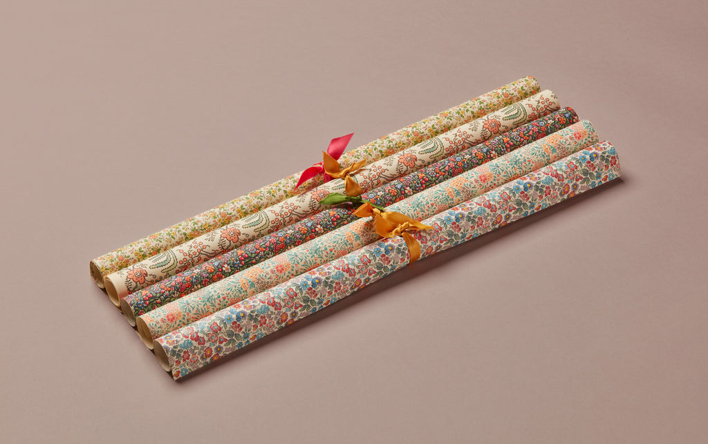 Assorted Liberty Print Style Wrapping Papers