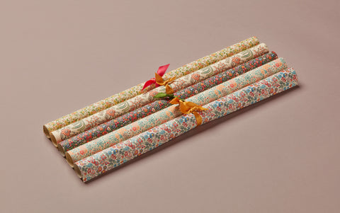 Assorted Floral Print Style Wrapping Papers