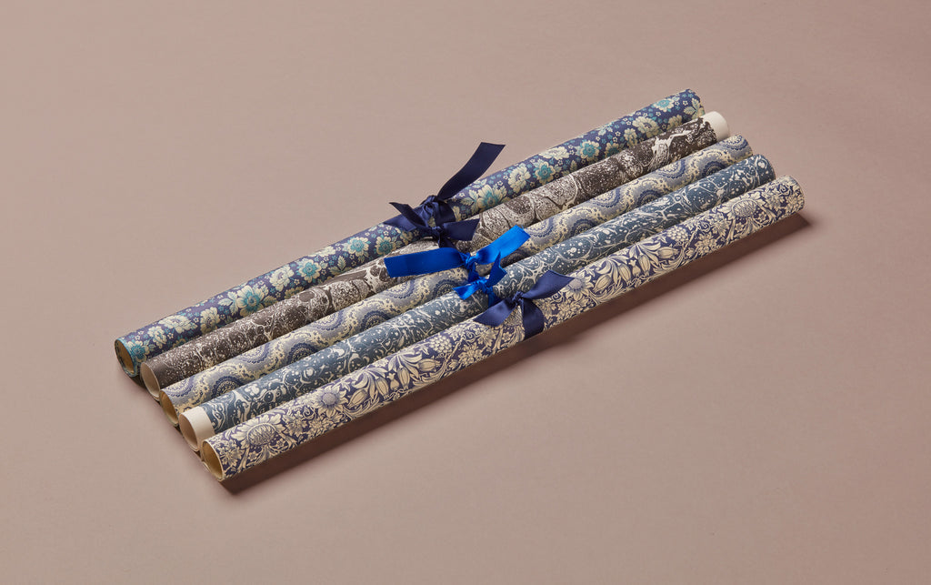 Assorted Dark Blue Wrapping Papers