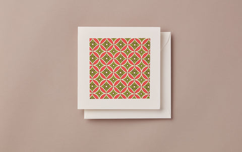 Geometric Christmas Card, no. 1