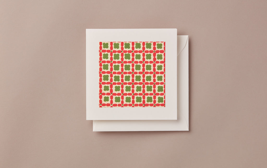Geometric Christmas Card, no. 3