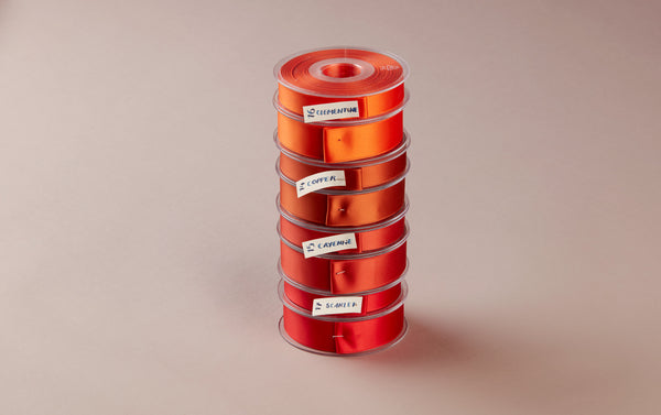 Premium Quality Swiss Ribbon, 25m roll - Reds