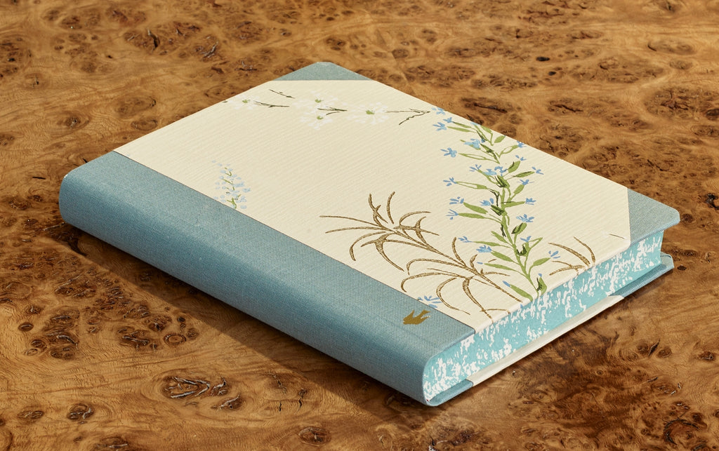 "Extra-Thick ""Composition Ledger"" Wallpaper Collection Notebook, Lilacs"