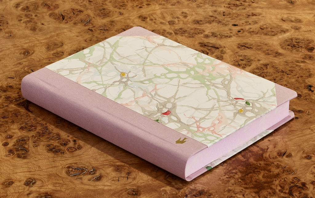 "Extra-Thick ""Composition Ledger"" Wallpaper Collection Notebook, Pale Marble"