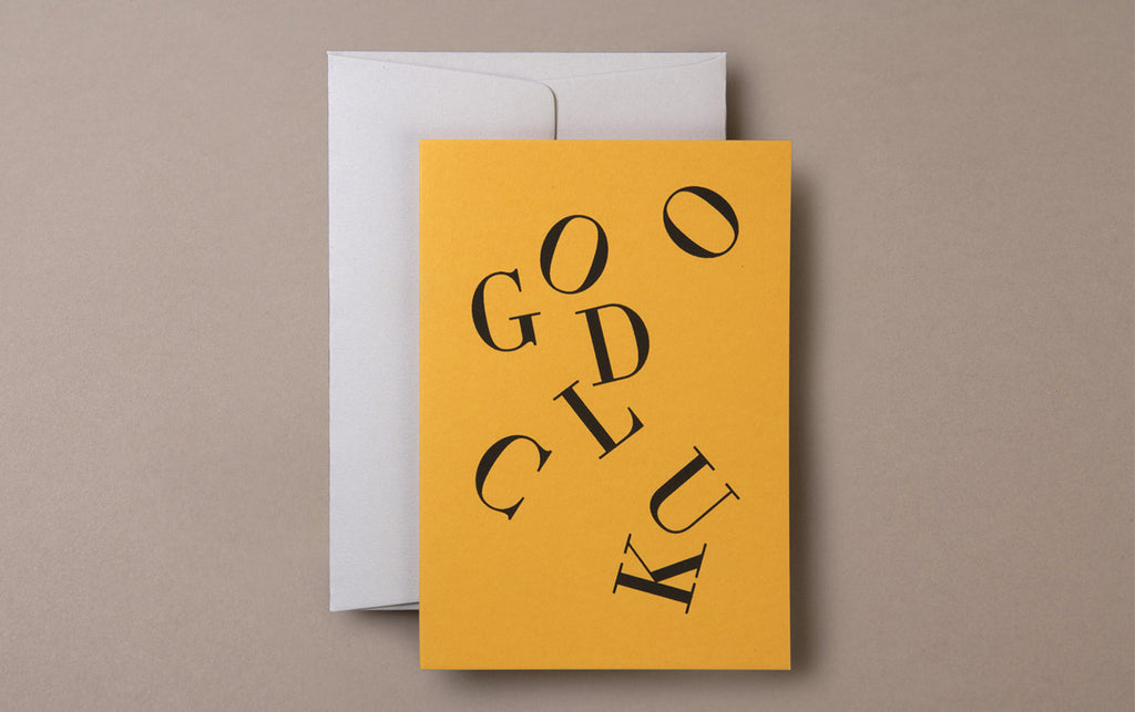 Silk Screen Printed Good Luck Greeting Card