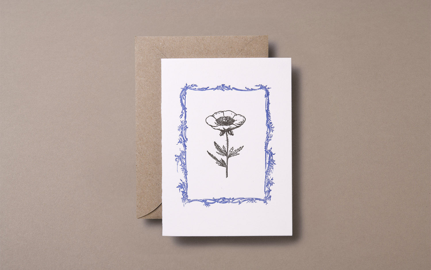 Letterpress Flower Greeting Card