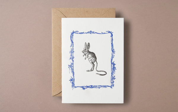 Letterpress Rodent Greeting Card