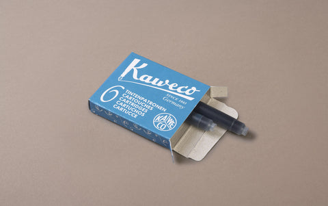 Turquoise Kaweco 6 Pack Ink Cartridges