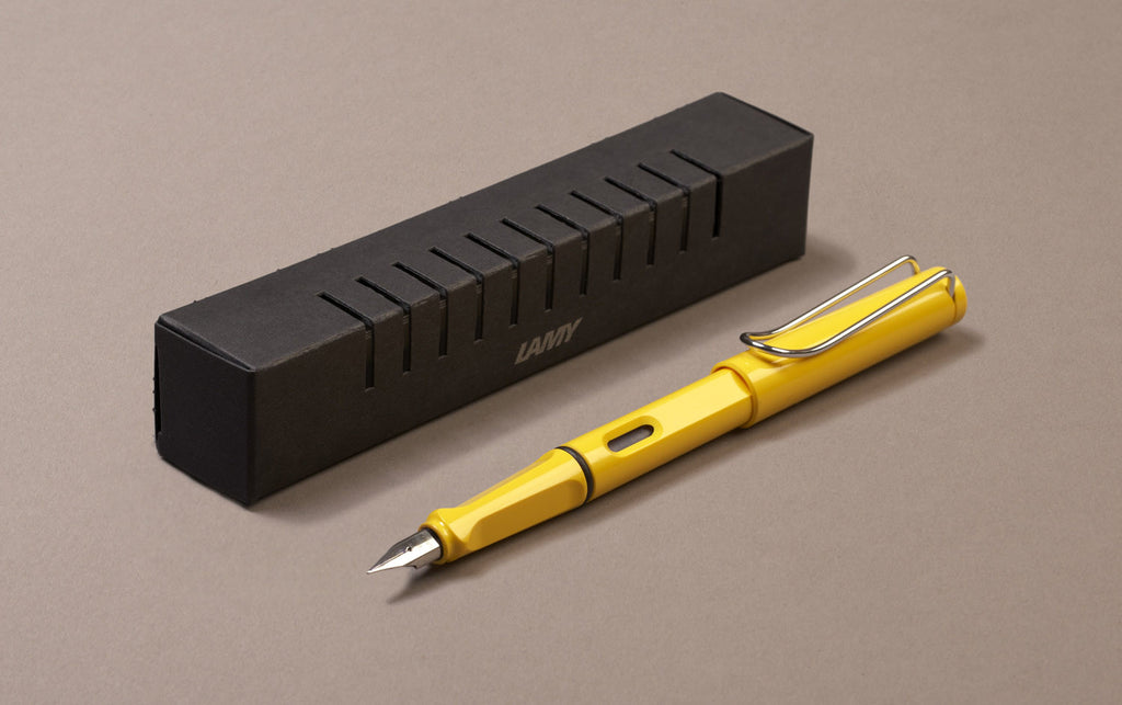 Yellow Lamy Safari Fountain Pen