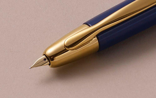 "1964 Capless ""Vanishing Point"" Fountain Pen, Gold Blue"