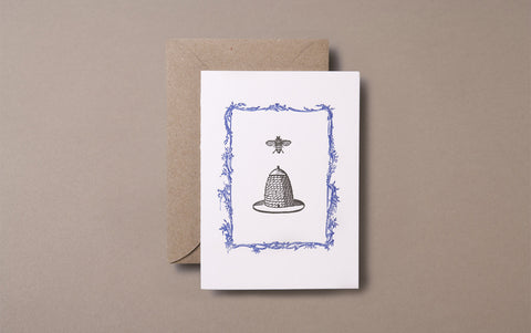 Letterpress Bee Nest Greeting Card