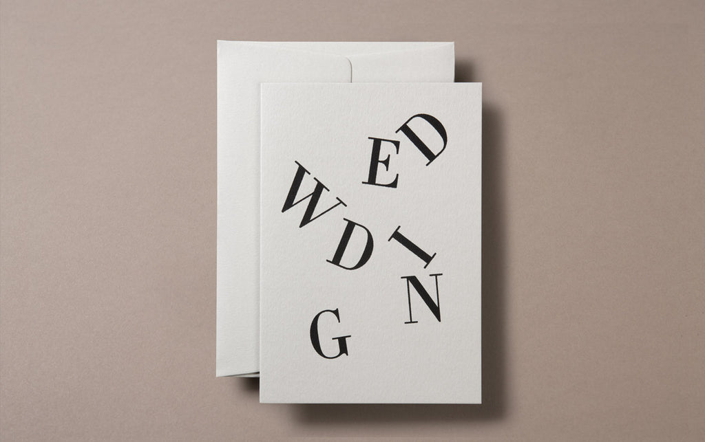 Silk Screen Printed Wedding Greeting Card