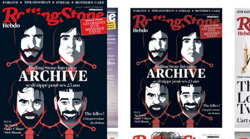 Rolling Stone France Cover - Archive 25th Anniversary Edition